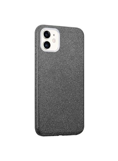 Microsonic Microsonic Apple iPhone 12 Kılıf Sparkle Shiny Gold Siyah